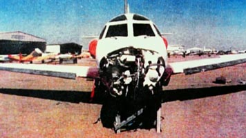 Bin Laden's crashed airplane.